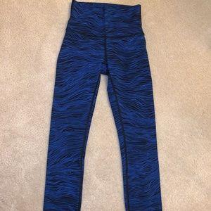 Dark blue and black Lululemon Leggings